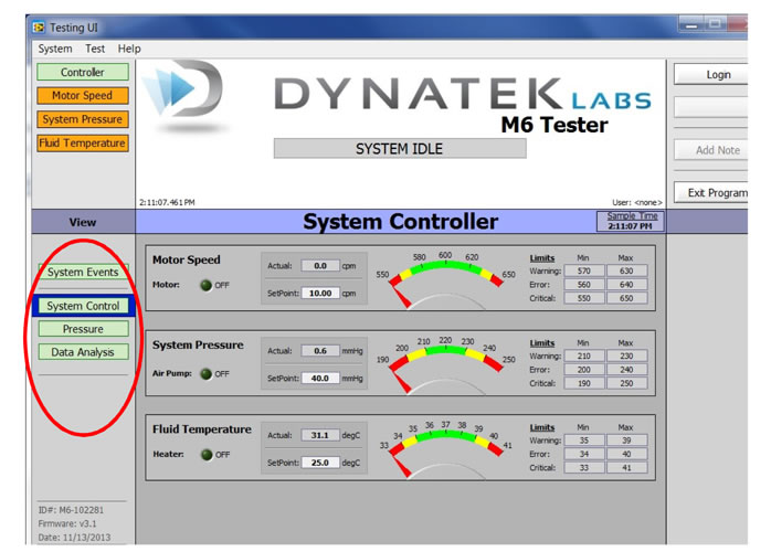 UC-M6 Software System Controller View