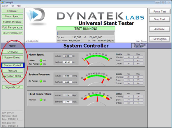 Fig. 2: UC-UST Software System Controller