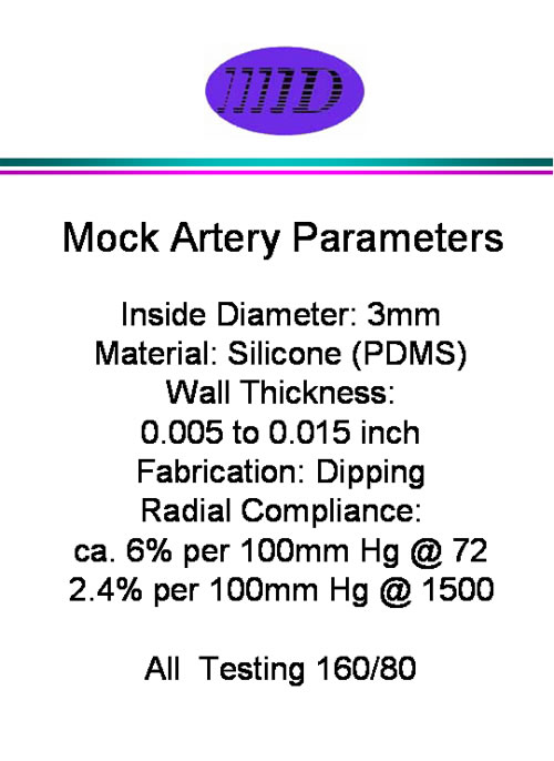 Silicone Mock Arteries